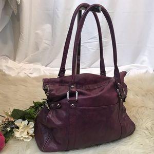 Beautiful Nordstrom Plum Leather Shoulder Bag